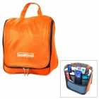 Portable Waterproof Travel Nylon Body Hygiene Kit / Wash / Toilet Bag - Orange