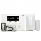 AD-8088-EODW-TG PSTN / LED Keypad Wireless Home Alarm System - White