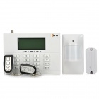 "AD-8088-GXCG2 GSM 3"" LCD Touch Keypad Wireless Home Alarm System - White"
