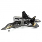 6048 4-CH 2.4GHz Radio Control Foam + Plastic Propeller Fighter Aircraft w/ Gyroscope - Black