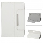 "Stylish Universal Litchi Pattern Flip-open PU Leather Case for 7"" Tablet PC / Cellphone - White"