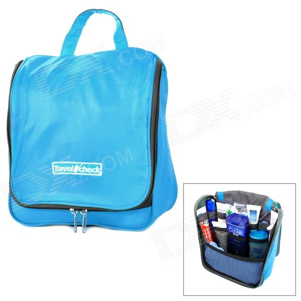 Portable Multifunctional Water Resisting Nylon Travel Body Hygiene Kit    Wash   Toilet Bag - Blue - Free Shipping - DealExtreme d3af332220aa2