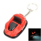 Sports Car Style Decorative Plastic Key Chain w/ 2-LED White Light - Black  + Red (3 x AG10)