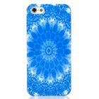 Protective Stylish Plastic Back Case for Iphone 5 - Blue