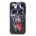 Protective 3D Skull Mask Pattern Back Case for Iphone 5 - Red + Black