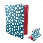 Cartoon Polka Dot Pattern PU Leather Cover Case Stand for Ipad 2 / 3 / 4 - Pink + Blue + Black