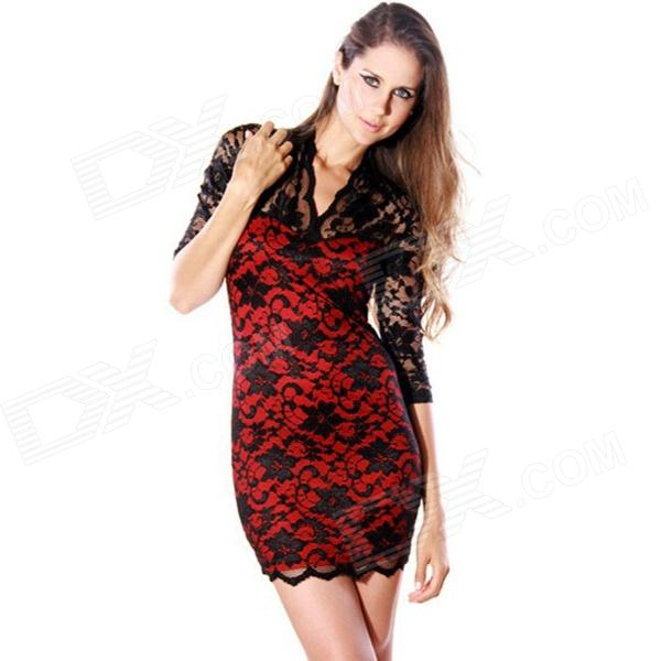Red And Black Lace Dress Torrid - Holiday Dresses
