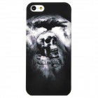Protecive Eagle on the Skull Pattern Plastic Back Case for Iphone 5 - Black Grey