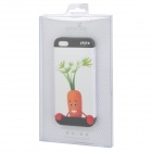Protective Embossed Cute Carrot Pattern Back Case for Iphone 5 - Orange + Green + Red