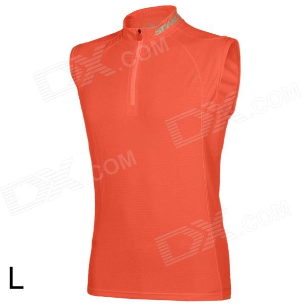 SPAKCT Stylish Sleeveless Cycling Jersey T-shirt - Orange (L) футболка wearcraft premium slim fit printio sasha grey