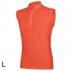 SPAKCT Stylish Sleeveless Cycling Jersey T-shirt - Orange (L)