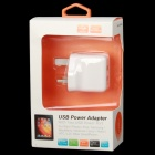 T-063 Dual-USB AC Power Charger Adapter for Iphone / Ipad / Ipod + More - White (110~240V / UK Plug)