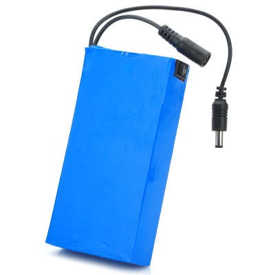 1268 12V 6800mAh Rechargeable Li-polymer Battery - Blue + Black (12V)