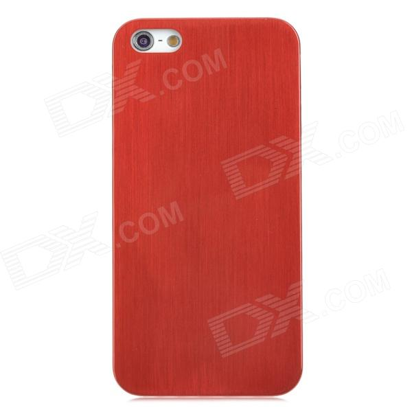 Protective Wire-Drawing Titanium Alloy Back Case for Iphone 5 - Red