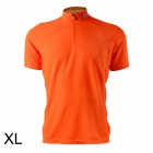 Spakct Outdoor Cycling Polyester Round Neck Short Sleeve T-Shirt - Orange (Size XL)