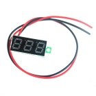 "W03 0.28""  Digital Car Blue Backlight Voltmeter Testing Device - Black + Green (DC 3.20V-30V)"