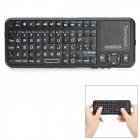 ipazzport KP-810-10BTT Mini Wireless Bluetooth V2.0 Rechargeable 82-Key Keyboard - Black