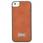 iWALK BCL001i5 Classic Protective PU Leather Back Case for Iphone 5 - Brown + Black