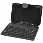 "7"" USB Protective 80-Key Keyboard Case w/ Stand for Vido N12, Onda V702, Ainol NOVO7 / NOVO8 - Black"