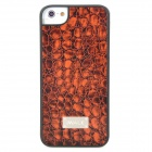 iWALK BCL001i5 Crocodile Grain Pattern Protective PU Leather Back Case for Iphone 5 - Brown + Black