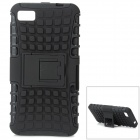 Protective TPU + PC Case w/ Holder for BlackBerry Z10 - Black