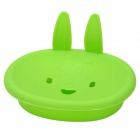 Cute Cartoon Rabbit Bathroom Soap Box - Green