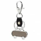Car Style Stainless Steel Keychain - Silver + Black
