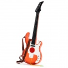 JT-01 Child Practice 4 Strings Music Guitar - Black + White + Orange + Brown