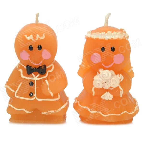 Gingerbread Couple Style Candles -