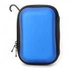 Outdoor Travel Water Resistant Protective PET Digital Camera Bag w/ Carabiner - Deep Blue