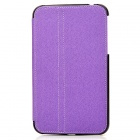 Protective 2-Fold PU Leather Case w/ Stylus for Samsung Galaxy Tab 3 P3200 - Purple