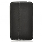 Protective 2-Fold PU Leather Holder Case w/ Stylus for Samsung Galaxy Tab 3 P3200 - Black