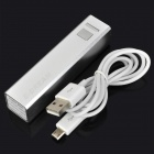 E-DREAM SMART103 External 2600mAh Power Battery Charger for Iphone / Cell Phone - Silver