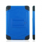 ENKAY ENK-3336 Protective Plastic + Silicone Back Case Stand for Ipad MINI - Blue