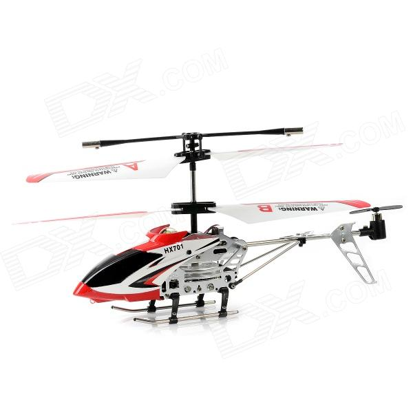 HengXiang HX701 Mini 3.5-CH IR Remote Control R/C Helicopter w/ Gyro - Red + White + Black 008 0023 abs mini 38k 5 key ir remote controller black white
