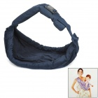 Multifunctional Adjustable Comfortable Cotton Baby Carrier Sling - Deep Blue