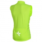 SPAKCT Stylish Sleeveless Cycling Jersey T-shirt - Fluorescence Green (L)