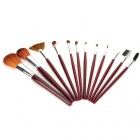 Portable Fashion 12-in-1 Cosmetic Makeup Brushes Set