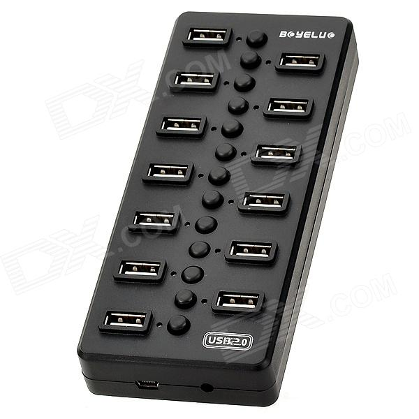 Power-Saving 13-Port USB 2.0 Hub w/ Individual Switch - Black (2-Flat-Pin Plug) liquidity risk management in banks economic and regulatory issues springerbriefs in finance