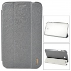 USAMS Folding Protective PU + PC Leather Case for Samsung Galaxy Tab 3 P3200 - Grey