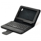 PU Leather Bluetooth V2.0 Keyboard Case for Samsung P3100 - Black