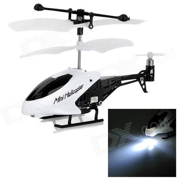 Ultra-Mini 3.5-CH IR Remote Control ABS R/C Helicopter - White + Black
