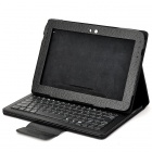 76-Key Bluetooth 3.0 Wireless Keyboard w/ PU Leather Case for Samsung Galaxy N8000 - Black