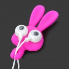 Big Eyes Rabbit Style 3.5mm Plug In-Ear Earphone w/ Cable Winder - Deep Pink + White (112cm)
