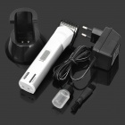 SN-6208 Rechargeable Electric Hair Clipper w/ Trimmer - White + Silver (EU Plug)
