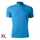 Spakct Bicycling Cycling Polyester Fiber Short Sleeve T Shirt - Blue (Size XL)