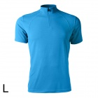 Spakct Bicycling Cycling Polyester Fiber Short Sleeve T Shirt - Blue (Size L)