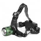 Assassin XQ-18 T6 Cree XM-L 360lm White Light Rotating Zooming Head Lamp - Black (2x 18650)