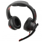 Stylish Wired 7.1 Multichannel Dual Microphone Noise Deduction Headset for PS3 / XBOX - Black + Red