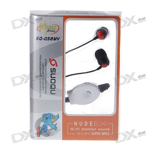 Noise Isolation In-Ear Stereo Headset with Microphone (2*3.5mm Jacks/209cm Cable)